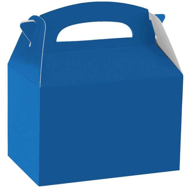 Pudełka na ciasto Classic mini - niebieskie Amscan 5 szt