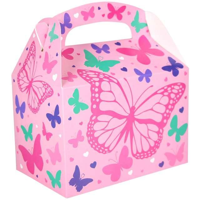 "Pudełka na ciasto ""Classic mini - różowe motyle"", Amscan, 5 szt"