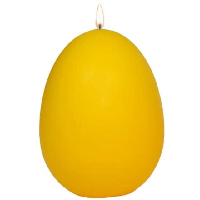 """Świeca """"Wielkanocne jajko classic"""", żółty mat, Adpal, 14cm"""