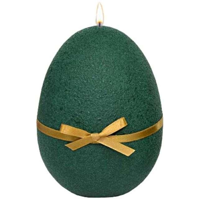 """Świeca """"Wielkanocne jajko z kokardką"""", zielona, Adpal, 14cm"""
