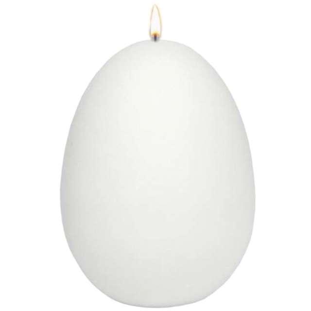 """Świeca """"Wielkanocne jajko, dioda LED"""", biały mat, Adpal,14cm"""
