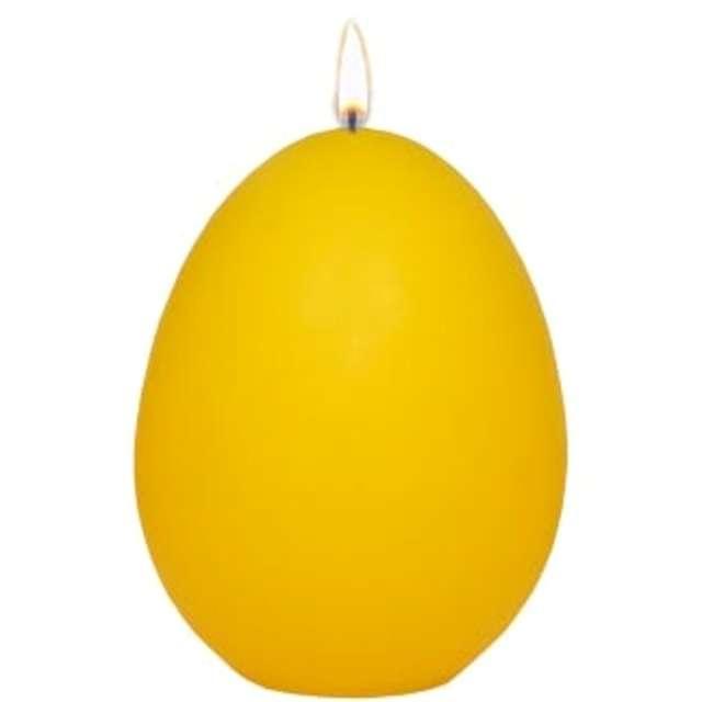 """Świeca """"Wielkanocne jajko classic"""", żółty mat, Adpal, 9cm"""