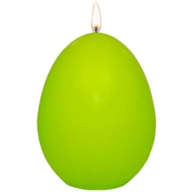 """Świeca """"Wielkanocne jajko classic"""", zielony mat, Adpal, 9cm"""