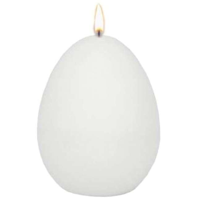"Świeca ""Wielkanocne jajko classic"", biały mat, Adpal, 9cm"