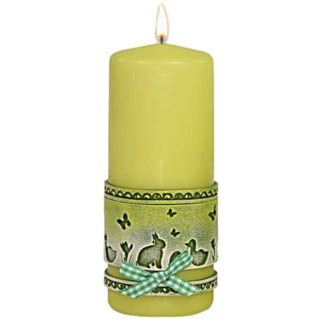 Świeca pieńkowa Wielkanocna koronka zielona Adpal 150/58 mm