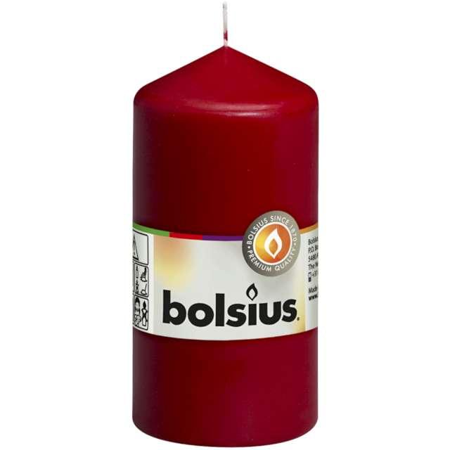 Świeca pieńkowa Classic bordowa Bolsius 120/58 mm