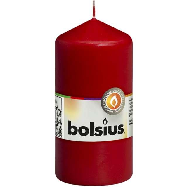 """Świeca pieńkowa """"Classic"""", czerwona, Bolsius, 120/58 mm"""