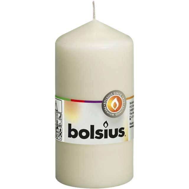Świeca pieńkowa Classic ecru Bolsius 120/58 mm