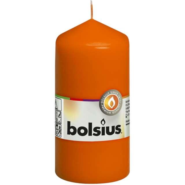 Świeca pieńkowa Classic pomarańczowy Bolsius 120/58 mm