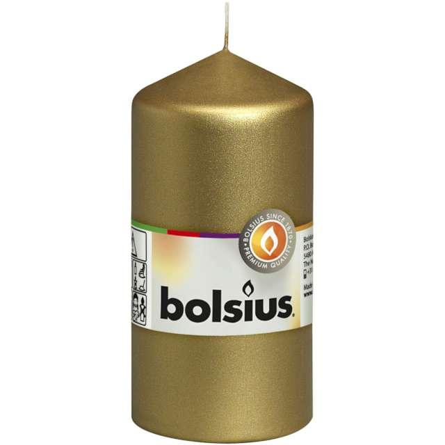 Świeca pieńkowa Classic złota Bolsius 120/58 mm