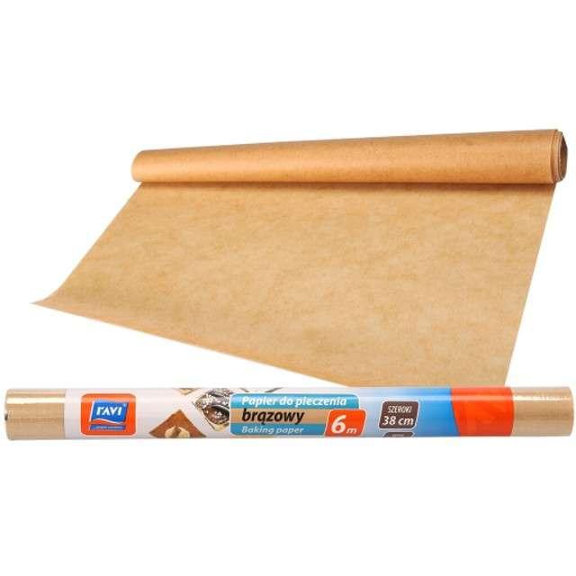 """Papier do pieczenia """"Classic-rolka"""", brąz, Ravi, 38cm, 6m"""