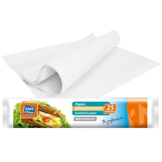"""Papier śniadaniowy """"Classic"""", biały, Ravi, 23x33 cm, 25szt"""