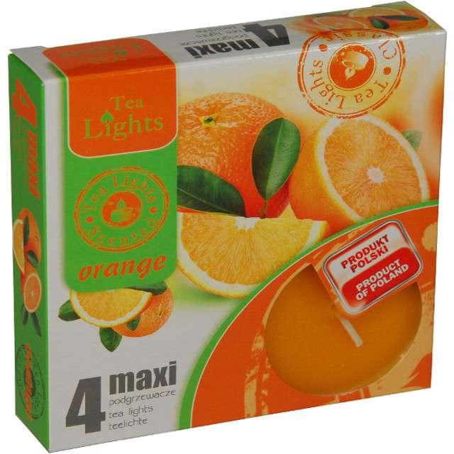 """Podgrzewacz zapachowy """"Maxi - Pomarańcza"""", Ravi, 4 szt"""