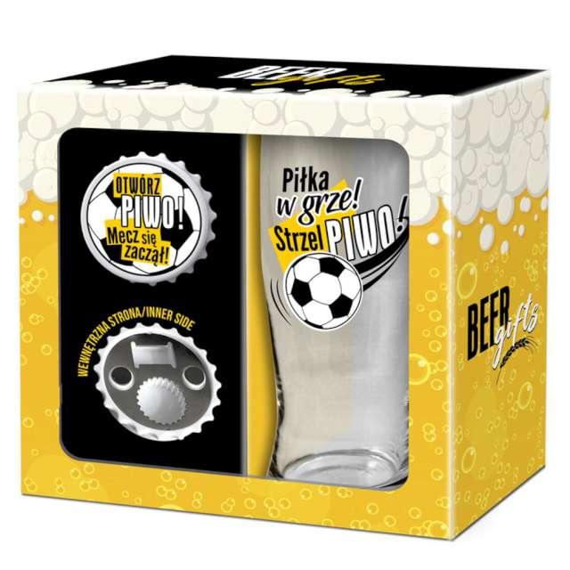 Zestaw Pokal + otwieracz Strzel piwo... BGTech 500 ml