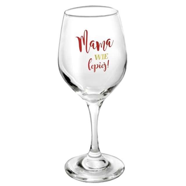 """Kieliszek do wina """"Mama wie lepiej"""", brokat, BGTech"""
