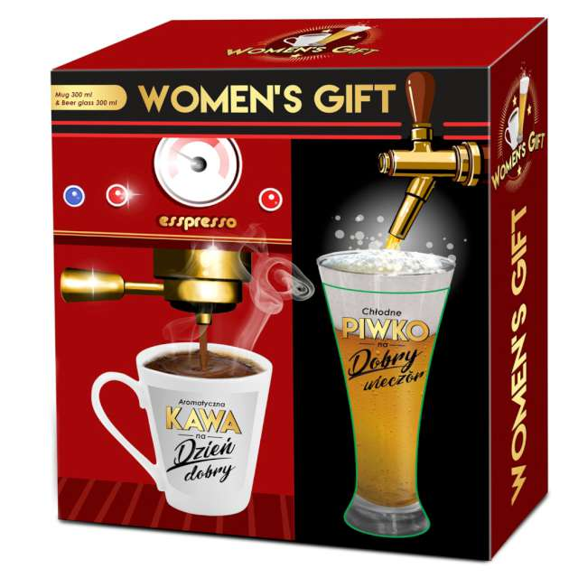 _xx_WOMENS GIFT - zestaw kubek 300ml i szklanka d