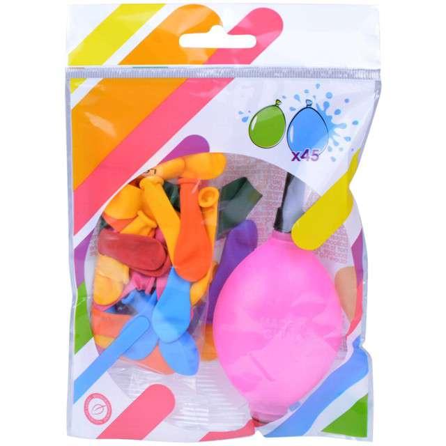 Balony Bomby wodne z pompką różowa Arpex 45 szt.