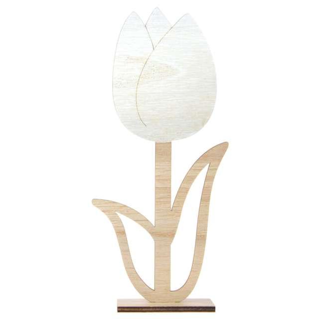 Dekoracja drewniana Kwiat - Tulipan pełny Arpex 22 cm