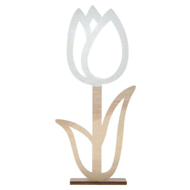 "Dekoracja drewniana ""Kwiat - Tulipan kontur"", Arpex, 22 cm"