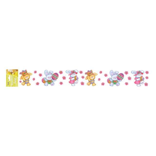 Folia elektrostatyczna Wielkanoc - Zające i pisanki Arpex 57 x 8 cm
