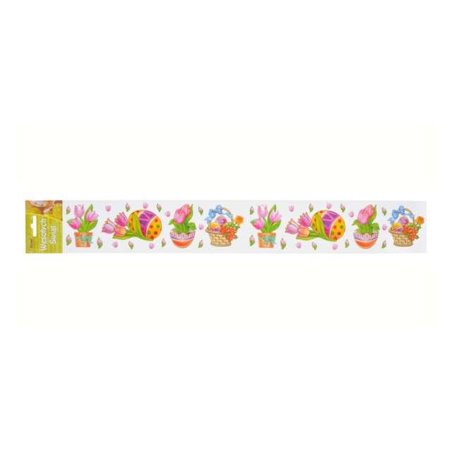 Folia elektrostatyczna Wielkanoc - Kwiaty i Pisanki Arpex 57 x 8 cm