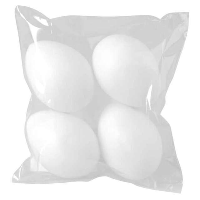 Jajka plastikowe Classic białe Arpex 7 cm 4 szt