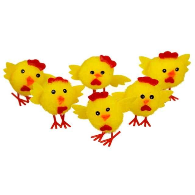 """Dekoracja """"Kurczaki słodziaki"""", 4 cm, Arpex, 6 szt"""