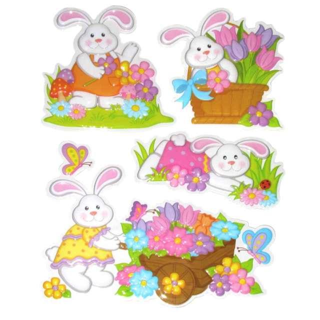_xx_Naklejki trójwymiarowe -króliki