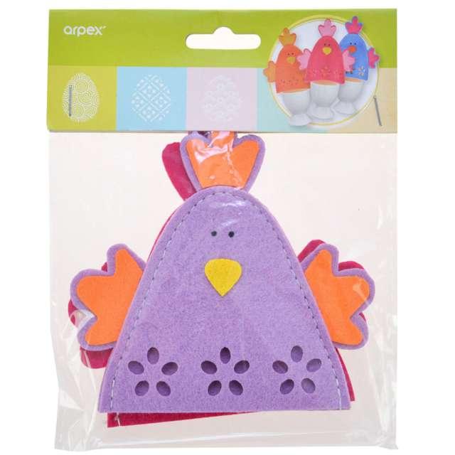 Ocieplacz na jajka Kurczaki fioletowy Arpex 2 szt.