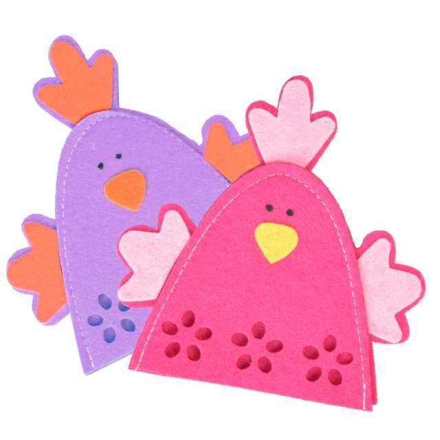 """Ocieplacz na jajka """"Kurczaki"""", fioletowy, Arpex, 2 szt."""