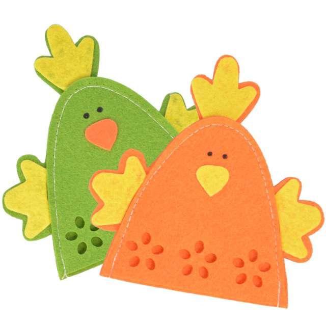 """Ocieplacz na jajka """"Kurczaki"""", pomarańczowy, Arpex, 2 szt."""