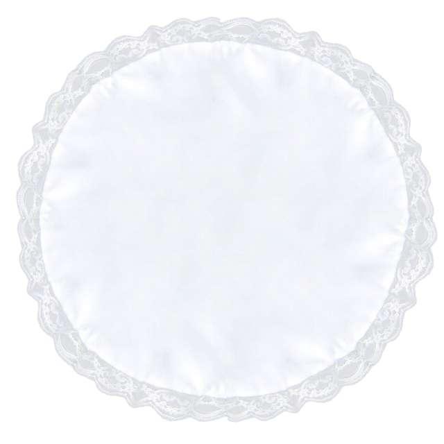 """Serwetka dekoracyjna """"Do koszyczka"""", biała, 40-45 cm"""