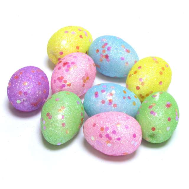 "Jajka ""Brokatowe pisanki w kropki"", Arpex, 4 cm, 9 szt."