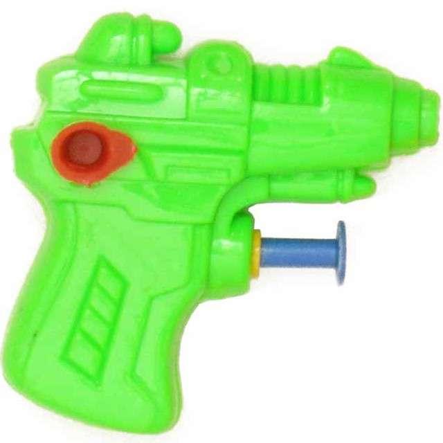 "Psikawka ""Mini pistolet "", zielona, Arpex, 6,5 cm"