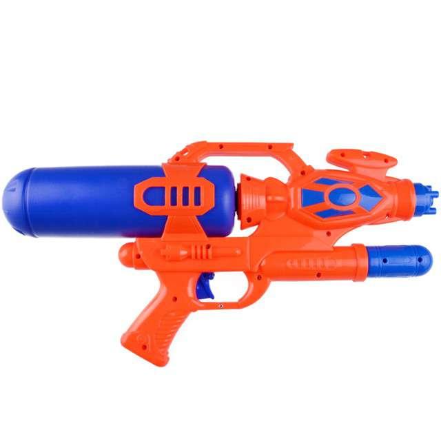 """Psikawka """"Nieziemski pistolet XXL"""", czerwono-granatowy, Arpex, 41cm"""