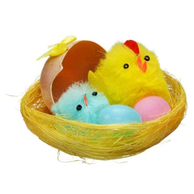"""Dekoracja """"Kurczaki w żółtym gniazdku """", Arpex"""