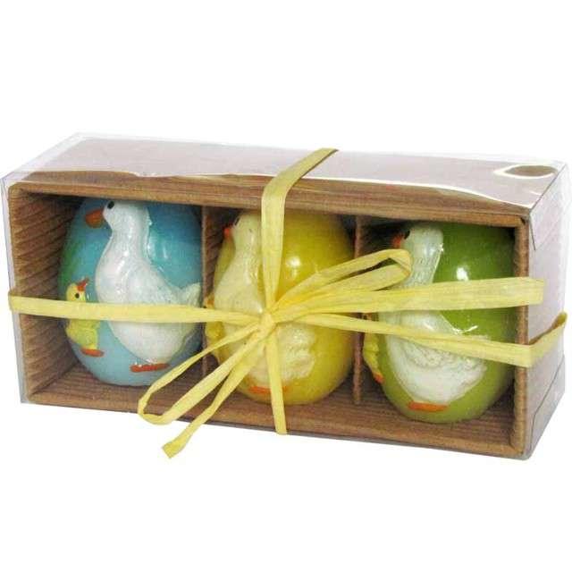 Świeca Wielkanocne jajko w kaczuszki mix Arpex 55cm 3szt