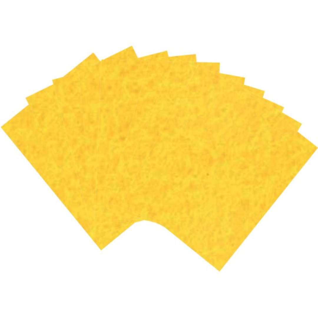 """Arkusze filcowe A4 """"Kolor żółty ciemny"""", Aliga, 10 szt."""