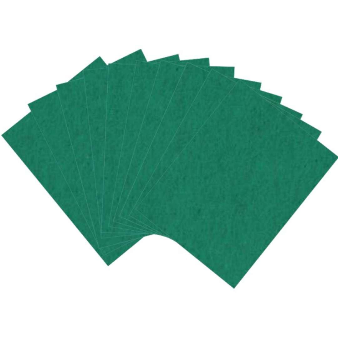 "Arkusze filcowe A4 ""Kolor ciemny zielony"", Aliga, 10 szt."