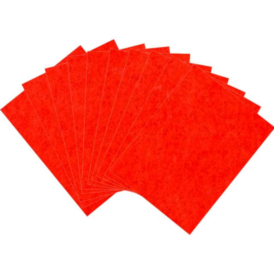 Arkusze filcowe A4 Kolor czerwony Aliga 10szt.