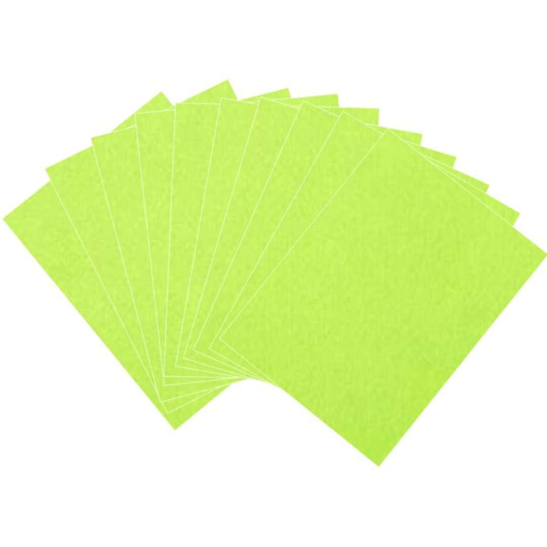 "Arkusze filcowe A4 ""Kolor jasny zielony"", Aliga, 10 szt."