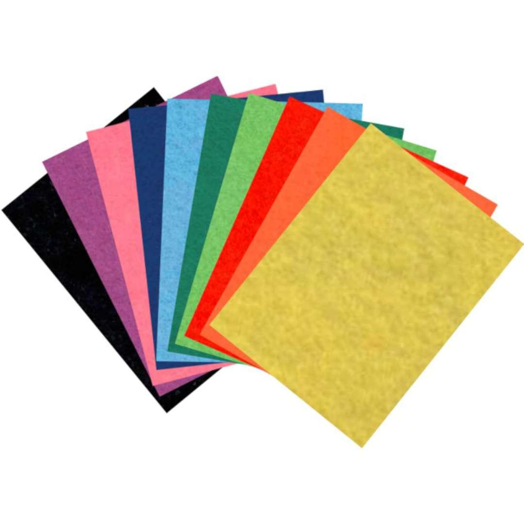 Arkusze filcowe A4 Kolor Mix - samoprzylepne Aliga 10 kol.