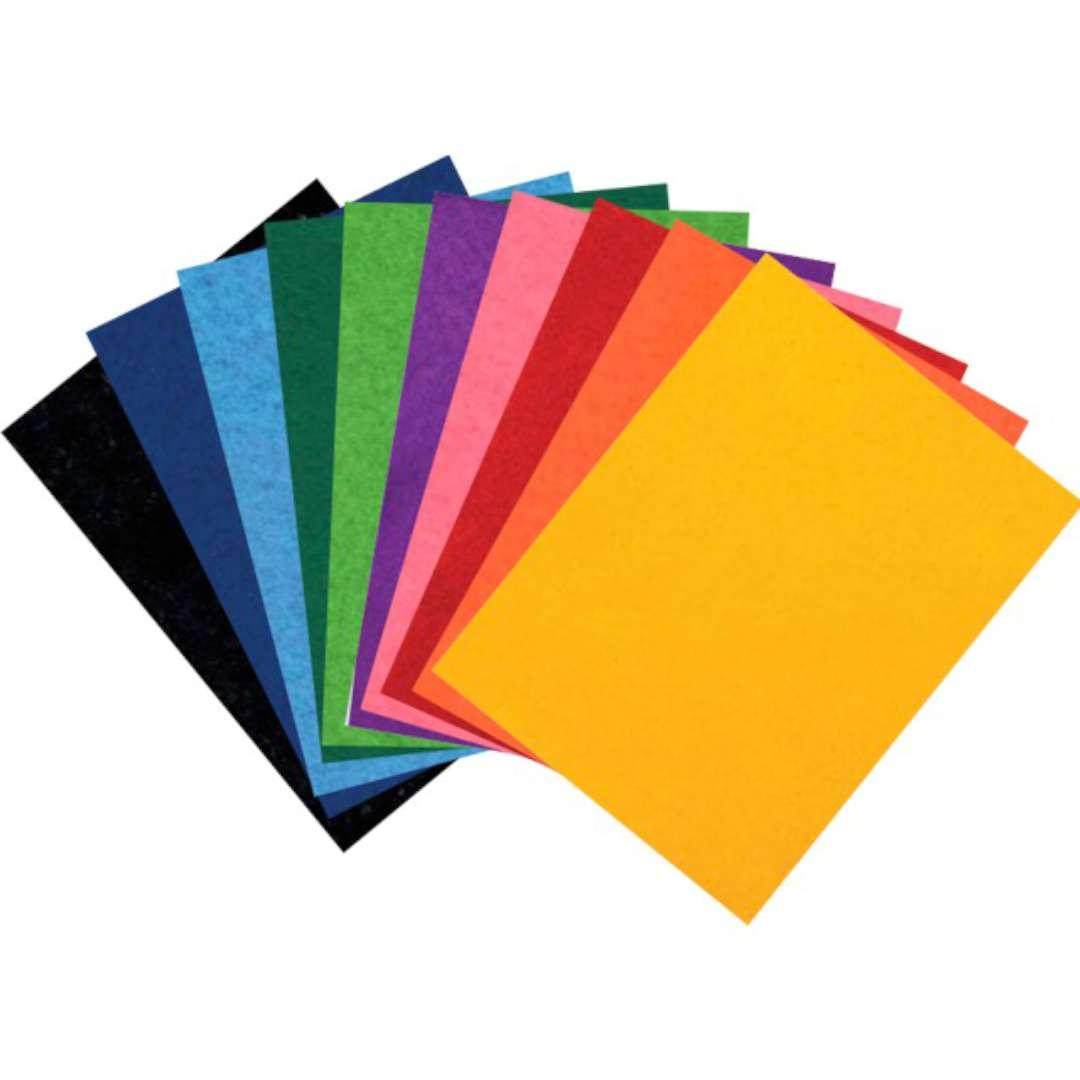 Arkusze filcowe A5 Kolor Mix Aliga 10 kol.