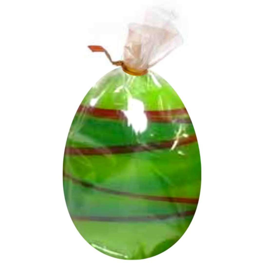 """Świeca """"Wielkanocne jajko w paski"""", zielona, Arpex, 6cm"""