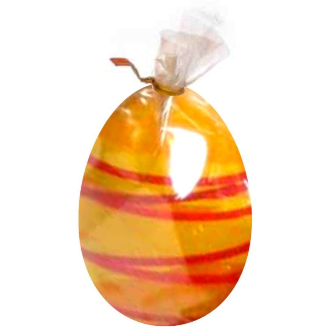 """Świeca """"Wielkanocne jajko w paski"""", żółta, Arpex, 6cm"""