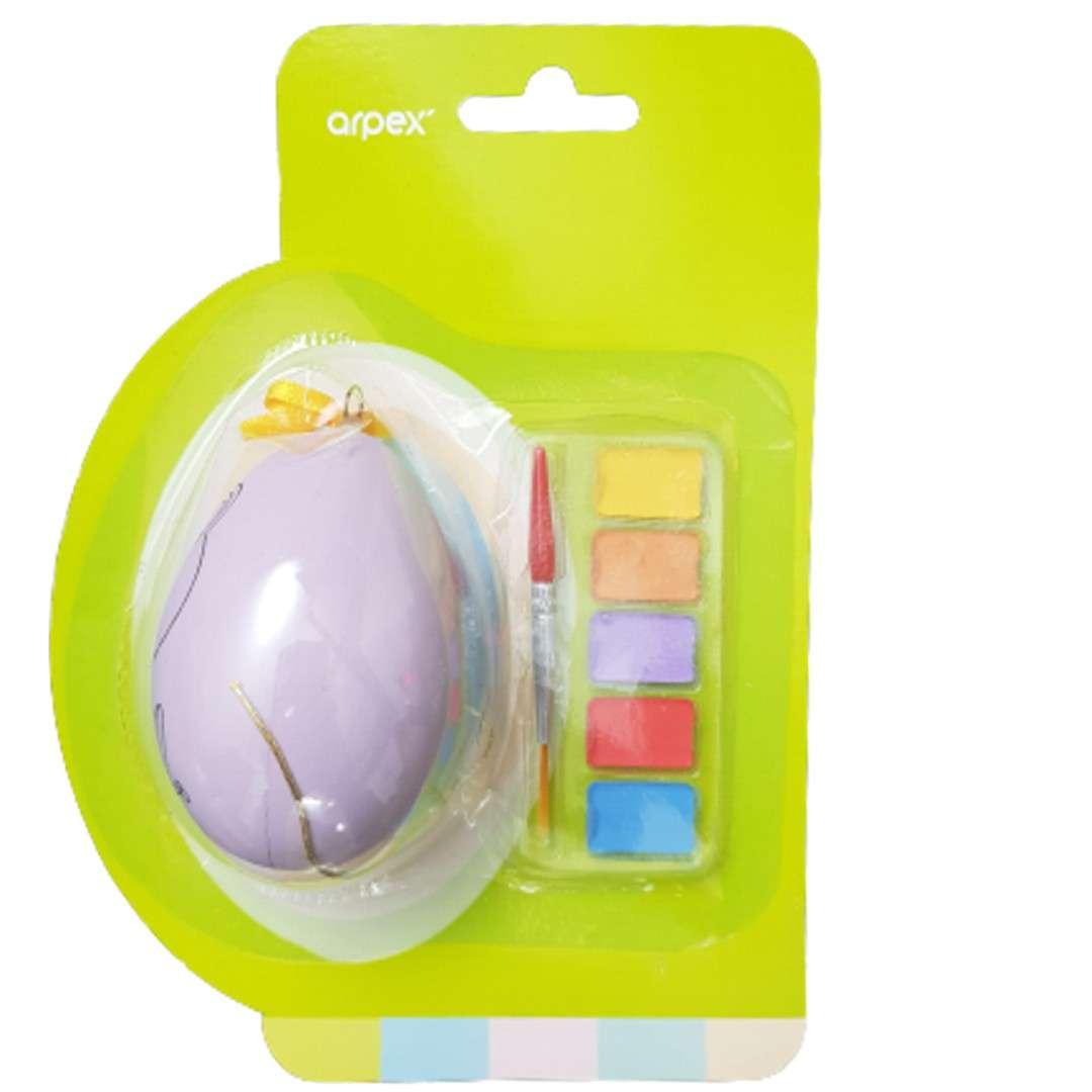 Zestaw kreatywny Jajko z farbkami fioletowe Arpex
