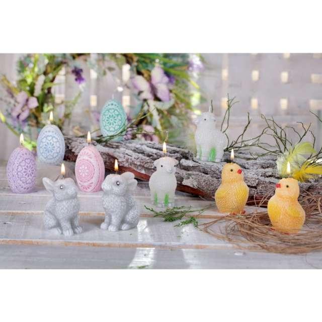 Świeca Wielkanoc - Pisanka Ażurowa różowa Bartek-Candles 75 mm