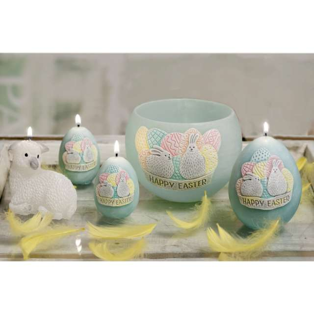 Lampion Wielkanocna kula Happy Easter tiffany Bartek-Candles 120 mm
