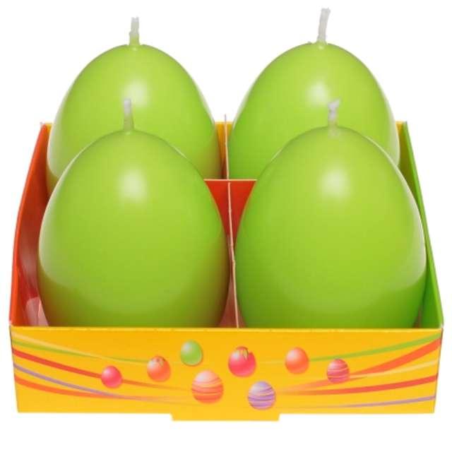 """Świeca """"Wielkanoc - pastelowe jajko"""", seledynowa, Bartek-Candles, 60 mm, 4 szt."""