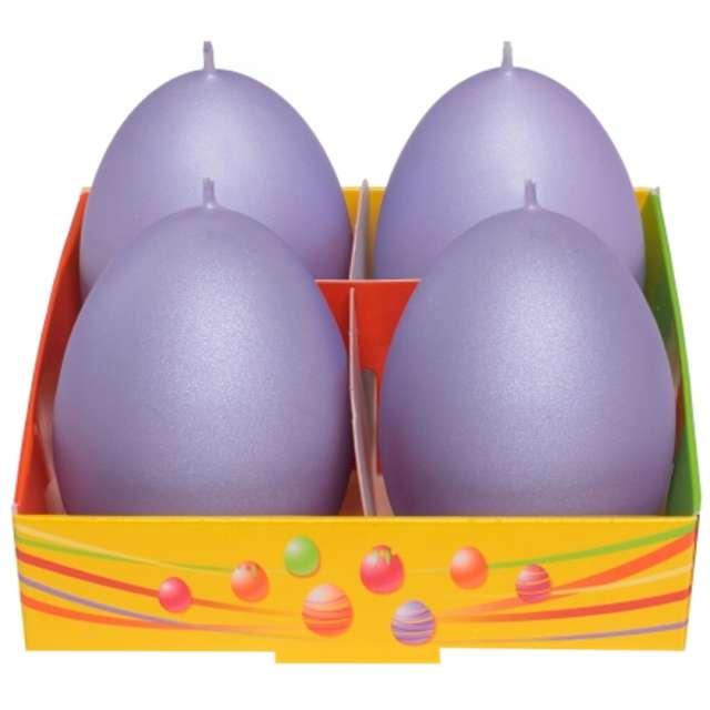 """Świeca """"Wielkanoc - matowe jajka"""", fioletowy, Bartek-Candles, 60 mm, 4 szt."""